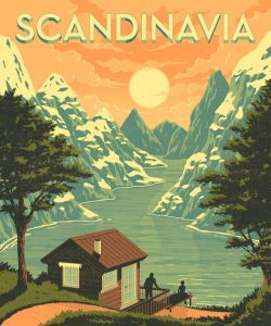 Scandinavia Illustration for the 'Lonely Planet' Magazine Book Cover