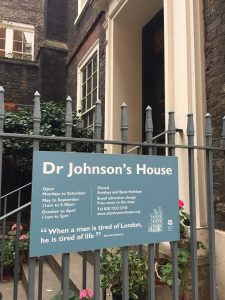 Dr Samuel Johnson's Dictionary House