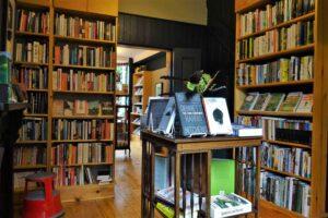 Interior of Pen'rallt Gallery Bookshop